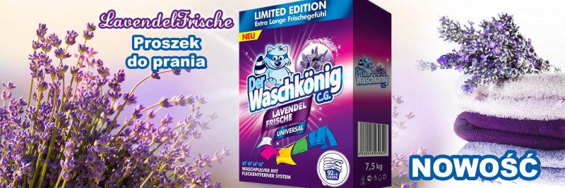 Proszek do prania Waschkonig Lavendel Frische Universal 7,5 kg - 100 WL Limited Edition