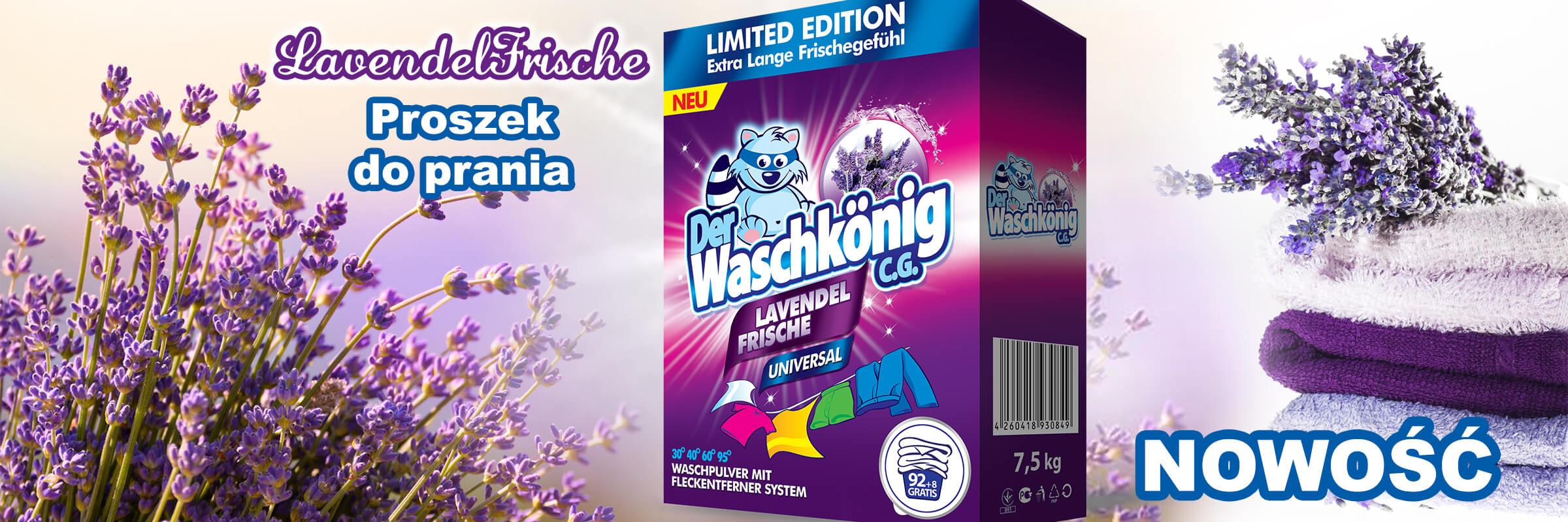 Proszek do prania Der Waschkönig C.G. Lavendel Frische Universal 7,5 kg - 100 WL Limited Edition