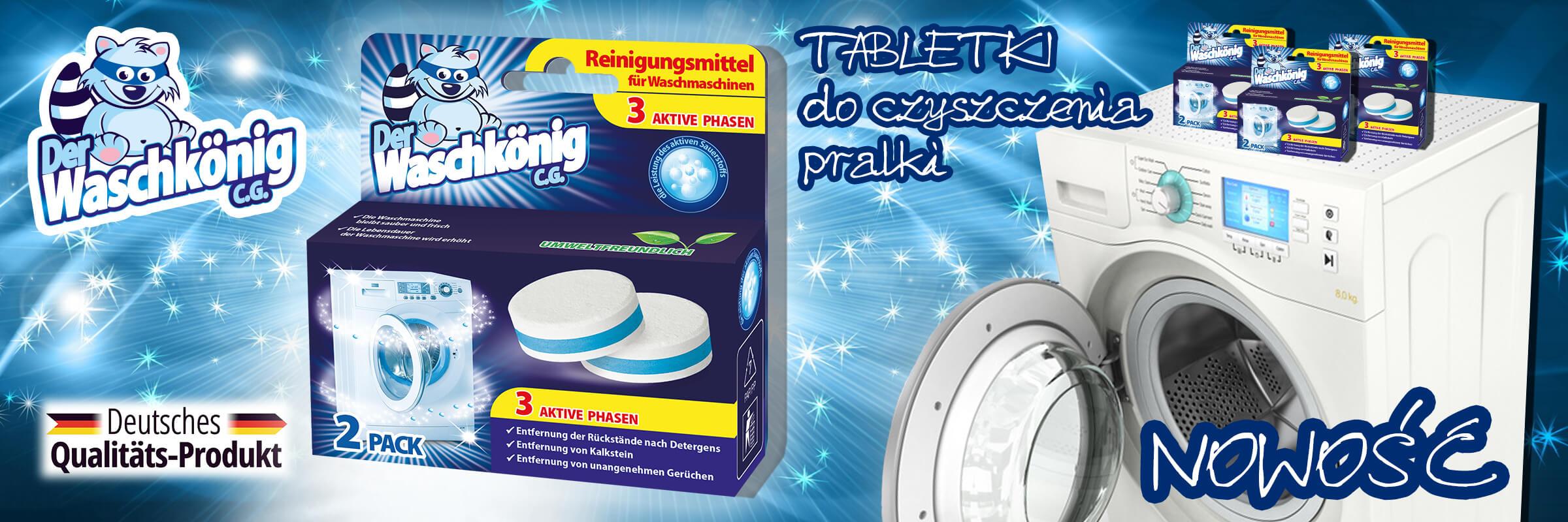 Nowość w ofercie - tabletki do czyszczenia pralki Der Waschkönig C.G.