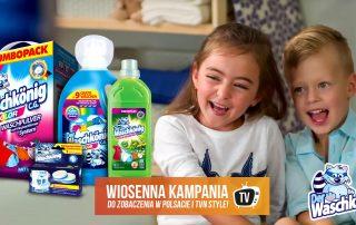 Król Prania w telewizji - wiosenna kampania środków piorących Waschkonig